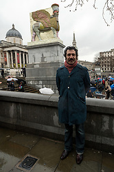 © Licensed to London News Pictures. 28/03/2018. London, UK. Artist Michael Rakowitz unveils his forth plinth work titled The Invisible Enemy Should Not Exist in Trafalgar Square. Photo credit: Ray Tang/LNP