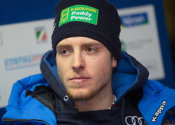 28.12.2013, AUDI Lounge, Bormio, ITA, FIS Ski Weltcup, Bormio, Pressekonferenz FISI, im Bild Mattia Casse (ITA) // Mattia Casse of Italy during a press conference FISI Skiteam of the Bormio FIS Ski Alpine World Cup at the AUDI Lounge in Bormio, Italy on 2013/12/28. EXPA Pictures © 2013, PhotoCredit: EXPA/ Johann Groder