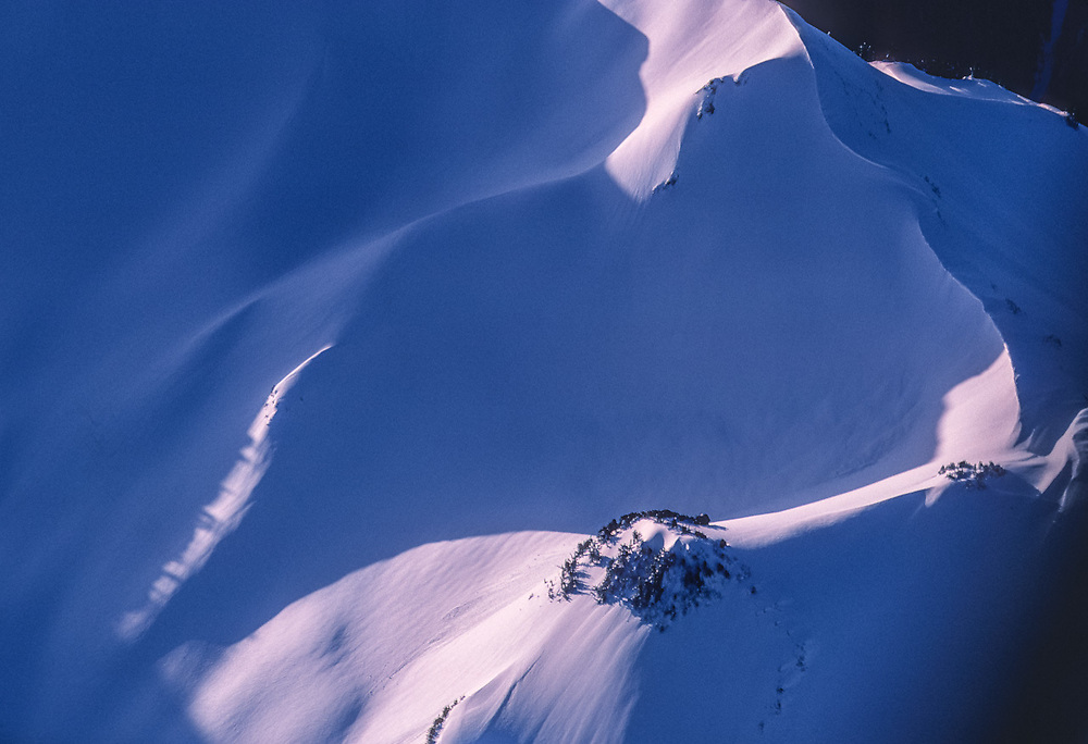 Aerial view, Olympic Mountains, morning light, winter, Olympic National Park, Washington, USA
