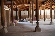 minaret of Juma - friday -mosque,  in the old city; inside 218 wood sculpted pilars  KHIVA  Ouzbekistan  .///.minaret de la mosquee du vendredi - JUMA dans la vieille ville;  218 piliers en bois sculptes   KHIVA  Ouzbekistan .///.OUZB56311