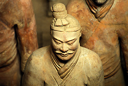 China: The Terracotta warriors of Xian, Tomb of Qin Shi.  Photo: chinas102    .Photo copyright Lee Foster, 510/549-2202, lee@fostertravel.com, www.fostertravel.com