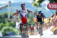 Sykkel<br /> Foto: PhotoNews/Digitalsport<br /> NORWAY ONLY<br /> <br /> FROOME Christopher of Team Sky - RODRIGUEZ Joaquim of Team Katusha during the stage 3 of the 102nd edition of the Tour de France 2015 with start in Antwerp and finish in Huy, Belgium (159 kms) *** HUY, BELGIUM - 6/07/2015