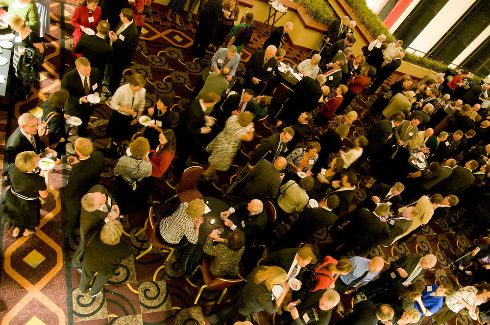 Attendees of the Annual Rectors Dinner enjoy cocktails before dinner at the Hyatt, Milwaukee, Wisconsin on October 4, 2008.