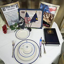 USS John C Stennis CVN-74 Aircraft Carrier.Pic Shows Missing Man table