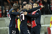 FOOTBALL - UEFA EUROPA LEAGUE 2011/2012 - GROUP STAGE - GROUP F - PARIS SAINT GERMAIN v SLOVAN BRATISLAVA - 3/11/2011 - PHOTO JEAN MARIE HERVIO / DPPI -  JOY JAVIER PASTORE (PSG) AFTER HIS GOAL