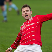 Newmarkets David McCarthy celebrates after scoring the first goal