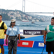 Dmytro HRACHOV (UKR) (L) and Pedro ALCALA (MEX) (R) competes in Archery World Cup Final in Istanbul, Turkey, Sunday, September 25, 2011. Photo by TURKPIX