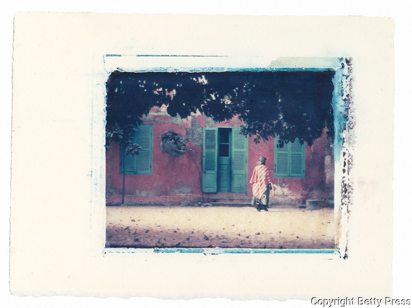 Typical home, Goree Island, Senegal<br /> Image size 4x5, Matted 12x10 Edition of 25 <br /> Archival Pigment Print