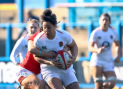 Shaunagh Brown of England<br /> <br /> Photographer Simon King/Replay Images<br /> <br /> Six Nations Round 3 - Wales Women v England Women - Sunday 24th February 2019 - Cardiff Arms Park - Cardiff<br /> <br /> World Copyright © Replay Images . All rights reserved. info@replayimages.co.uk - http://replayimages.co.uk