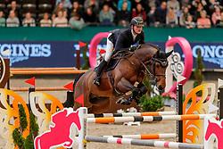 TEBBEL Maurice (GER), Copin's Boy<br /> Leipzig - Partner Pferd 2020<br /> FUNDIS Youngster Tour<br /> 2. Qualifikation für 7jährige Pferde <br /> Springprfg. nach Fehlern und Zeit, int.<br /> Höhe: 1.35 m<br /> 18. Januar 2020<br /> © www.sportfotos-lafrentz.de/Stefan Lafrentz