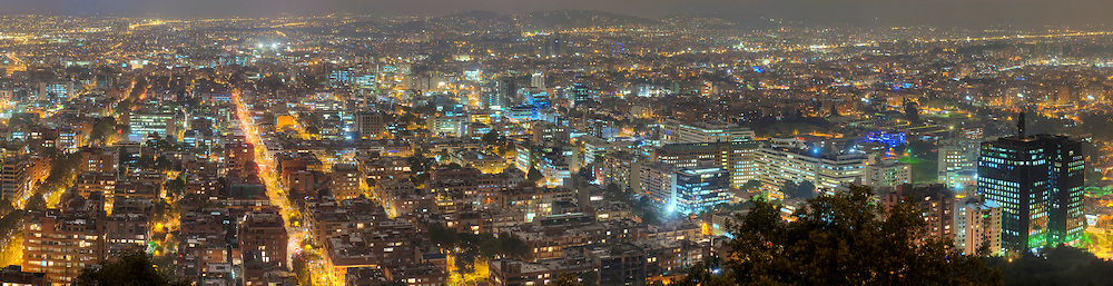 Panorama of Bogota, Columbia.  Image created 2010. <br /> Print Size (in inches): 15x4; 24x6; 36x9; 48x12; 60x15.5; 72x18.5