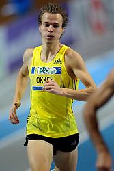 07-02-2010 ATLETIEK: NK INDOOR: APELDOORN<br /> Nederlands kampioen 800 meter Arnaud Okken<br /> ©2010-WWW.FOTOHOOGENDOORN.NL