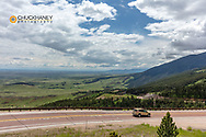 Scenic Highway 14 in the Bighorn National Forest of Wyoming