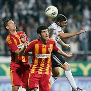 Besiktas's Simao SABROSA (R) during their Turkish superleague soccer match Besiktas between Kayserispor at BJK Inonu Stadium in Istanbul Turkey on Saturday, 15 October 2011. Photo by TURKPIX