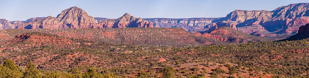 Panoramic view from Yavapai Vista Point, Sedona, Arizona, USA