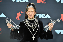 Rosalía poses in the Press Room during the 2019 MTV Video Music Awards at Prudential Center on August 26, 2019 in Newark, NJ, USA. Photo by Lionel Hahn/ABACAPRESS.COM