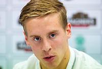 05/08/14  <br /> BT MURRAYFIELD STADIUM - EDINBURGH<br /> Celtic star Stefan Johansen speaks to the press ahead of taking on Legia Warsaw