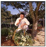 Jean-Marie Guilbaut chef and owner of La Ferme du Letty, Benodet, Finistere, Brittany, France.