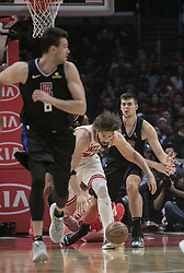 March 15, 2019 - Los Angeles, California, U.S - Ivica Zubac #40 of the Los Angeles Clippers battles for the ball with Robin Lopez #42 of the Chicago Bulls during their NBA game on Friday March 15, 2019 at the Staples Center in Los Angeles, California. Clippers defeat Bulls, 128-121. JAVIER ROJAS/PI (Credit Image: © Prensa Internacional via ZUMA Wire)
