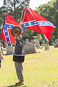 Civil war re-enactors in period costume during a service at Elmwood Cemetery to mark Confederate Memorial Day May 2, 2015 in Columbia, SC. Confederate Memorial Day is a official state holiday in South Carolina and honors those that served during the Civil War.