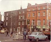 Old amateur photos of Dublin streets churches, cars, lanes, roads, shops schools, hospitals, Streetscape views are hard to come by while the quality is not always the best in this collection they do capture Dublin streets not often available and have seen a lot of change since photos were taken Naas Hospital Pearse St Moroneys Pub. Harmony Row, Bottom Gardiners St Warehouse Opposite Cornmarket April 1984