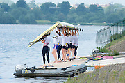 Caversham, Nr Reading, Berkshire.<br /> <br /> Crews Boating from the Pontoon. Olympic Rowing Team Announcement morning training before the Press conference at the RRM. Henley.<br /> <br /> Thursday  DATE}<br /> <br /> [Mandatory Credit: Peter SPURRIER/Intersport Images] 09.06.2016,