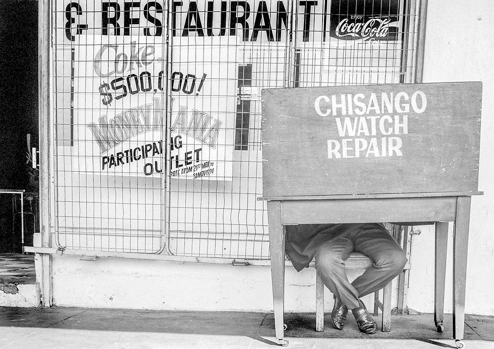 Watch repair shop, Zimbabwe
