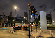 London, United Kingdom - 12 June 2020<br /> Winston Churchill statue being covered in protective scaffolding and sheet metal following Black Lives Matter protests, Parliament Square, London, England, UK.<br /> (photo by: EQUINOXFEATURES.COM)<br /> Picture Data:<br /> Photographer: Equinox Features<br /> Copyright: ©2020 Equinox Licensing Ltd. +443700 780000<br /> Contact: Equinox Features<br /> Date Taken: 20200612<br /> Time Taken: 02183172<br /> www.newspics.com
