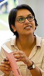 Pictured: Angela Saini is an English science journalist, broadcaster and author of Inferior<br /> Book fanatics headed to Charlotte Square in Edinburgh which is the hub of the international Book Festival to meet the authors and also to meet up with fellow fans of the printed word.<br /> <br /> <br /> Ger Harley | EEm 16 August 2017