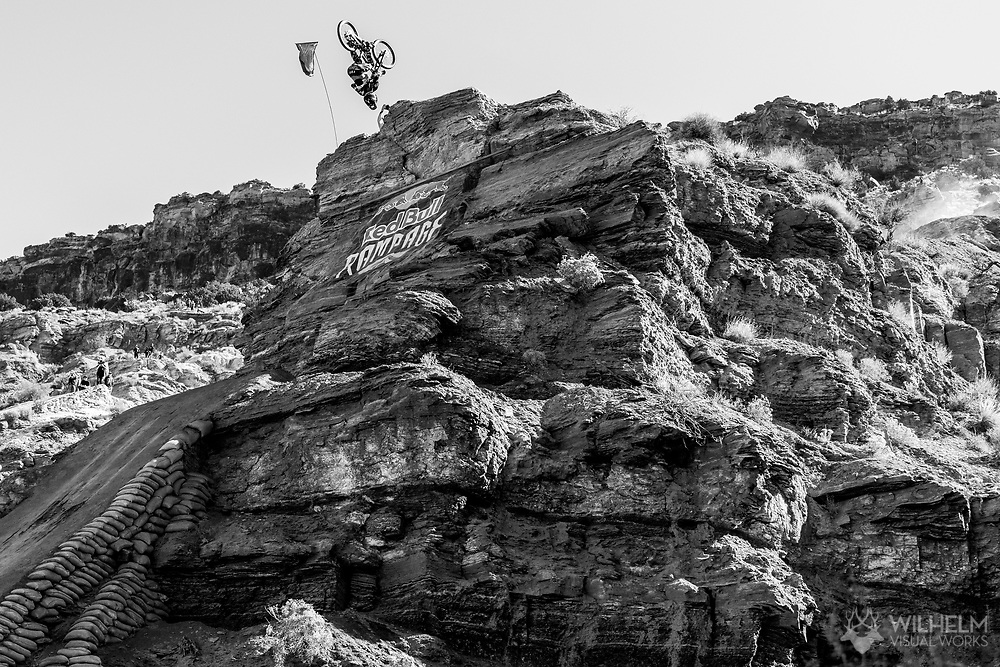 Ethan Nell competes at the 2019 Red Bull Rampage in Virgin, UT. © Brett Wilhelm
