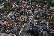 Nederland, Noord-Holland, Schagen, 28-04-2010; Westfriese stad, met aan de Markt.de Grote Kerk en het Slot Schagen (herbouwd, met authentieke torens).West Frisian city, with the Great Church and the Schagen castle (rebuilt, with original towers)..luchtfoto (toeslag), aerial photo (additional fee required).foto/photo Siebe Swart