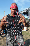 """August 27, 2016- Brooklyn, New York-United States: Supa Nova Sloan the Hip Hop Medicine Man attends the 2016 AfroPunk Brooklyn Concert Series held at Commodore Barry Park on August 27, 2016 in Brooklyn, New York City. Described by some as """"the most multicultural festival in the US,"""" which includes an eclectic line-up and an audience as diverse as the acts they come to see. (Photo by Terrence Jennings/terrencejennings.com)"""