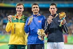 Louis RADIUS, FRA, Athletisme, Athletics, Podium, Bronze, 1500m - T38 at Rio 2016 Paralympic Games, Brazil