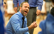 Hermann Coach Josh Vinyard talks to his team during a Class 3 sectional basketball game  on Wednesday, Feb. 27, 2019, at Francis Howell Central High School in Cottleville, Mo.  Gordon Radford   Special to STLhighschoolsports.com