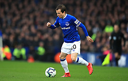 Everton's Bernard in action during the Premier League match at Goodison Park, Liverpool.