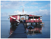Frenchie's Dive Shack off the pacific shores of  Caye Caulker Island, Belize