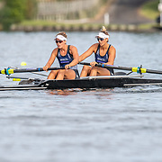 Jackie Gowler  & Kelsi Walters Race the premier pair<br /> <br /> Racing the Christmas Regatta on Lake Karapiro, Cambridge, New Zealand. Sunday 15 December 2019  © Copyright photo Steve McArthur / www.photosport.nz