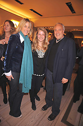 Left to right, SHONA STOPFORD-SACKVILLE, her daughter ELLA STOPFORD-SACKVILLE and STEPHEN MARKS at a reception in aid of Children in Crisis held at the Roger Vivier store, 188 Sloane Street, London on 19th March 2009.
