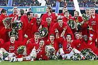 Fotball , 9. mai 2013 , finale,<br /> AZ Alkmaar - PSV Eindhoven  2-1, AZ :  Mattias Johansson, <br />  Markus Henriksen ,  Adam Maher,  Johann berg Gudmundsson,  Celso Ortiz,  Aron Johannsson,  Jozy Altidore,  Dirk Marcellis,  Nick Viergever,  Mikhail Rosheuvel,  Willie Overtoom.<br /> <br /> Norway only