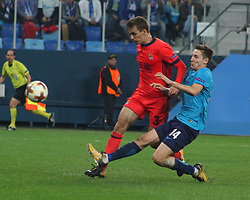 September 28, 2017 - Saint-Petersburg - Of The Russian Federation. Saint-Petersburg. Zenit-arena. Arena Saint-Petersburg. Match Of The UEFA Europa League. Zenit beat real Sociedad with the score 3:1 in the match of UEFA Europa League. Player..Daler Kuzyaev; (Credit Image: © Russian Look via ZUMA Wire)