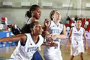 DESCRIZIONE : Valmiera Latvia Lettonia Eurobasket Women 2009 Francia Italia France Italy<br /> GIOCATORE : Marte Alexander Sandrine Gruda Raffaella Masciadri<br /> SQUADRA : Italia Italy Francia France<br /> EVENTO : Eurobasket Women 2009 Campionati Europei Donne 2009 <br /> GARA : Francia Italia France Italy<br /> DATA : 07/06/2009 <br /> CATEGORIA : difesa rimbalzo<br /> SPORT : Pallacanestro <br /> AUTORE : Agenzia Ciamillo-Castoria/E.Castoria