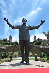 Dec. 16, 2013 - Pretoria, South Africa - A nine-meter statue of former president Nelson Mandela was unveiled as part of the Reconciliation Day celebrations. (Credit Image: © Li Qihua/Xinhua/ZUMAPRESS.com)
