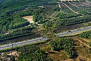 Nederland, Utrecht, Soesterberg, 29-05-2019; autosnelweg A28 met Ecoduct Leusderheide.<br /> A28 motorway with Ecoduct Leusderheide.<br /> <br /> luchtfoto (toeslag op standard tarieven);<br /> aerial photo (additional fee required);<br /> copyright foto/photo Siebe Swart