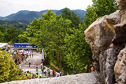 Rigoberto Uran of Team EF Education Cannondale celebrates and Daryl Impey of Mitchelton Scotta at Finish line during 3rd Stage of 25th Tour de Slovenie 2018 cycling race between Slovenske Konjice and Celje (175,7 km), on June 15, 2018 in  Slovenia. Photo by Matic Klansek Velej / Sportida