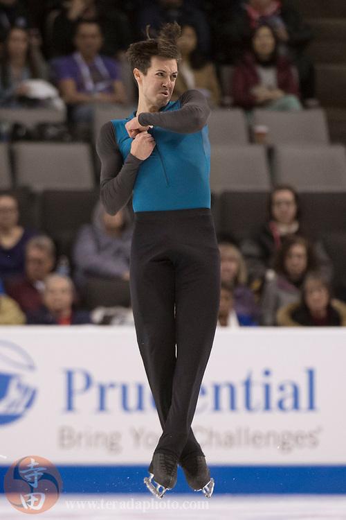 January 4, 2018; San Jose, CA, USA; Sebastien Payannet performs in the mens short program during the 2018 U.S. Figure Skating Championships at SAP Center.