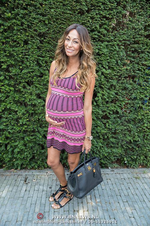 NLD/Amsterdam/20160908 - Talkies Lifestyle lunch 2016, zwangere Maria Tailor