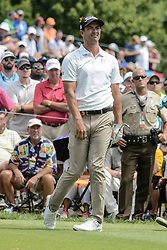 August 9, 2018 - Town And Country, Missouri, U.S - ADAM SCOTT from Australia reacts as his tee shot goes off line during round one of the 100th PGA Championship on Thursday, August 8, 2018, held at Bellerive Country Club in Town and Country, MO (Photo credit Richard Ulreich / ZUMA Press) (Credit Image: © Richard Ulreich via ZUMA Wire)