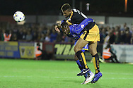 Ade Azeez of AFC Wimbledon during Sky Bet League 2 match between AFC Wimbledon and Cambridge United at the Cherry Red Records Stadium, Kingston, England on 18 August 2015. Photo by Stuart Butcher.