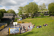 Open Garden Estates event at Central Hill Estate on 13th June 2015 in Lambeth, South London, United Kingdom. Central Hill is one of six estates earmarked by Lambeth Council for regeneration rather than repair. Open Garden Estates is an initiative by Architects for Social Housing ASH, a collective working to save London council estates under threat of demolition by Government housing policy, local authority estate regeneration programmes and property developers.