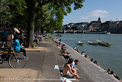 On the River Rhein while touring Basel after the Art and Wheels art and motorcycle show, Switzerland. May 18, 2015. Photography ©2015 Michael Lichter.